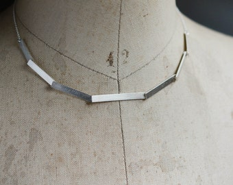 7 Silver Steps necklace