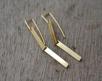 2 Golden Steps earrings