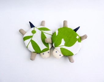 Cute Coasters, Turtle Coasters, Drink Coasters, Fabric Coasters, Unique Coaster, Green Coaster - Housewarming Gift