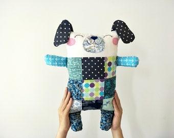 Patchwork Stuffed Animals, Patchwork  Dog, Plush Toy Dog, Toy Dog, Stuffed Dog, Pillow Dog, Dog Soft Toy, Dog Softie, Plush Dog, Patchwork