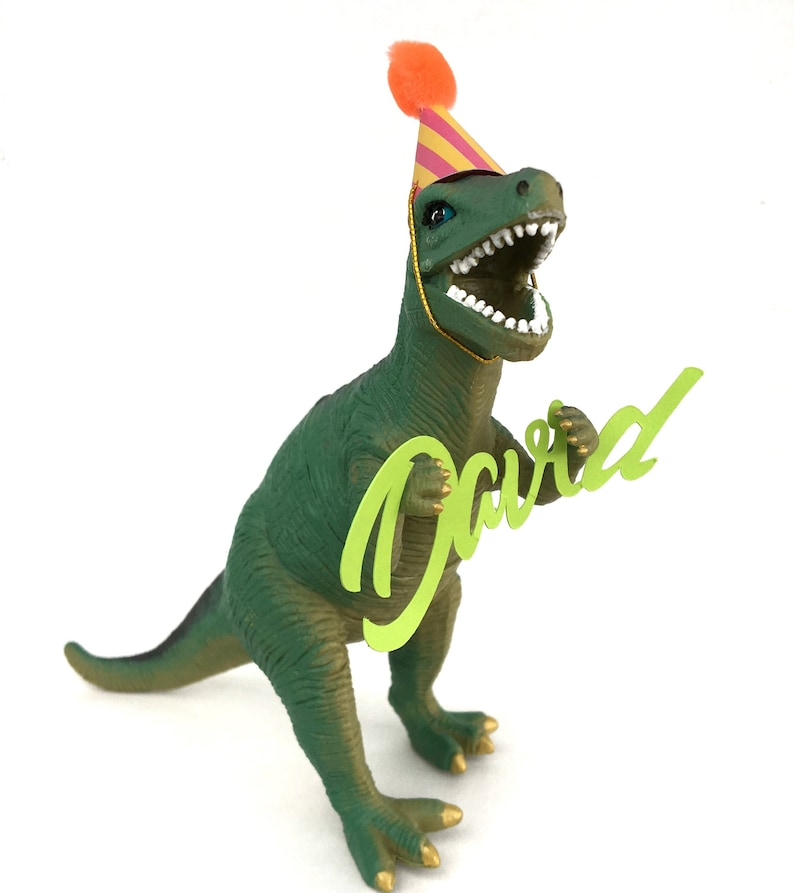 Personalized Party Dinosaur T-Rex Cake Topper or Party image 0
