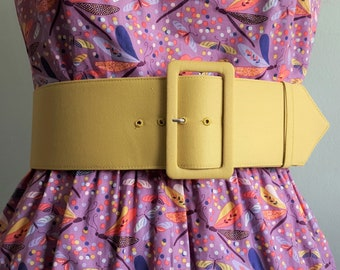 3 inch belt  with matching fabric covered buckle in many colors, handmade belt, custom made belt, custom fabric or colors