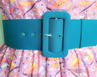 2.5 inch custom belt  with matching fabric covered buckle in many colors, handmade belt, custom made belt, custom fabric or color