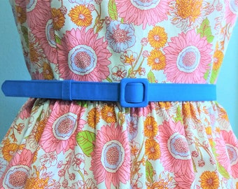 custom made belt with matching fabric covered buckle in many colors, handmade belt, custom made belt, pink belt,  3/4 inch wide
