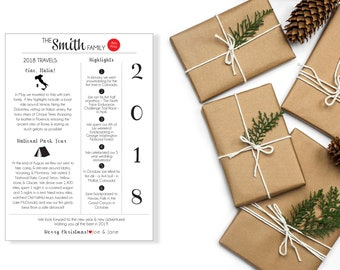 Custom Year In Review Letter, Holiday Year In Review Letter, Holiday Cards, Holiday Mailer