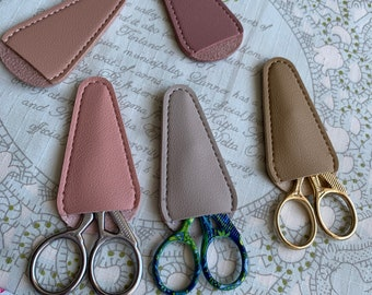 Sewing Support-Golden Silver Colorful Crane Bird Scissors, Japanese PU Leather Scissor Cover(1PCS, Choose Color)