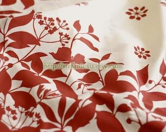 Home Decor, Dark Red Floral-Cotton Fabric (Fat Quarter)