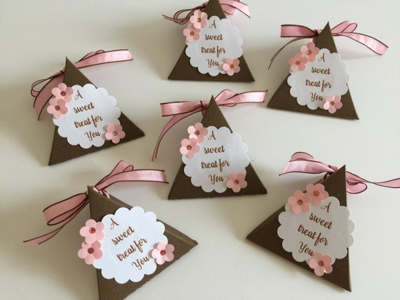 Favor Boxes Party Favor Birthday Favor Boxes Pink Triangle Favor