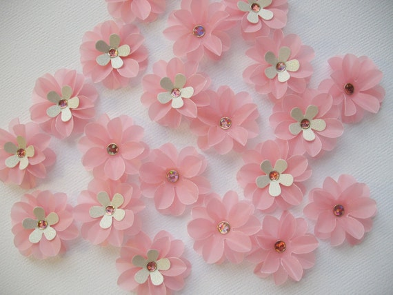 Paper flowers pink vellum flowers qty 40 by iecreations catch my party il570xn mightylinksfo