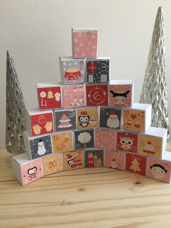 Advent Calendar Kit Advent Calendar Kit Christmas Favor Boxes Favor