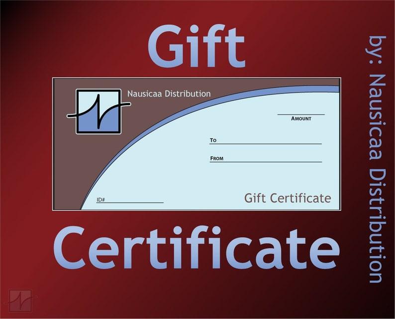 Nausicaa Distribution Gift Certificate image 0