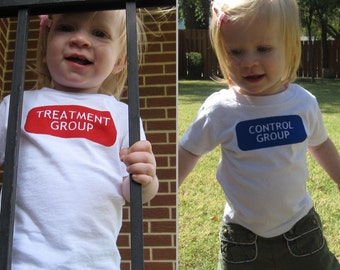 Control and Treatment Group Shirts or Bodysuits - One Each