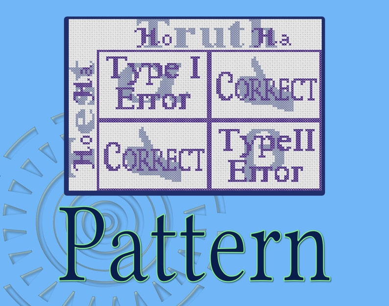 Type I and Type II Error Guide Cross-Stitch Pattern image 0
