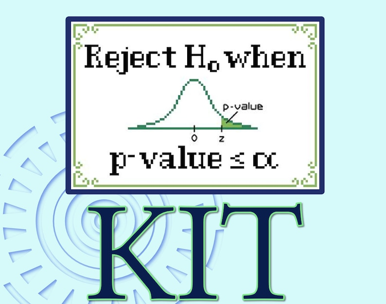 P-value Guide Cross-stitch Kit image 0