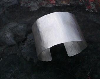 The Cuff handmade hammered sterling silver cuff bracelet
