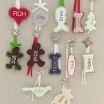 Christmas Stocking Personalized Tag Embroidered Ornament Label Name Gift Wedding Favor