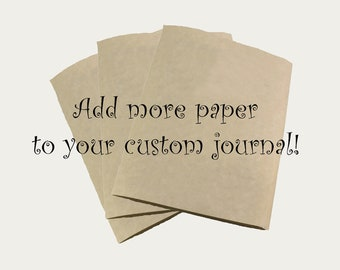 Add More Paper to Your Custom Journal