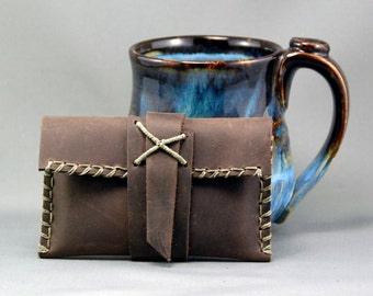 Rustic Leather Card Case