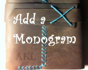 Custom Monogram for Handmade Leather Journals