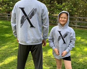 Cicada Sweatshirt, Adult Unisex, Brood X Tshirt, Cicada Tshirt, Summer 2021