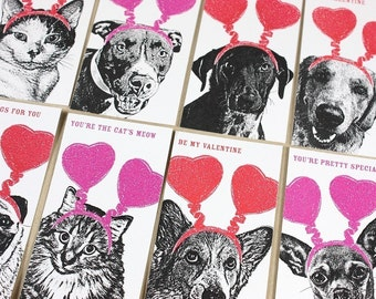 FuzzyMug Mini Valentines - Set of 8 - Ready to Ship - School Valentines - Teacher Card