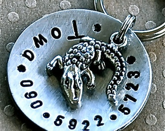 Alli-Gator domed Pet ID Tag