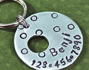 Benji loves dots Pet tag dog tag cat tag perfect for any soze