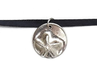 Sterling starfish charm, SCUBA necklace, ocean jewelry, beach accessory