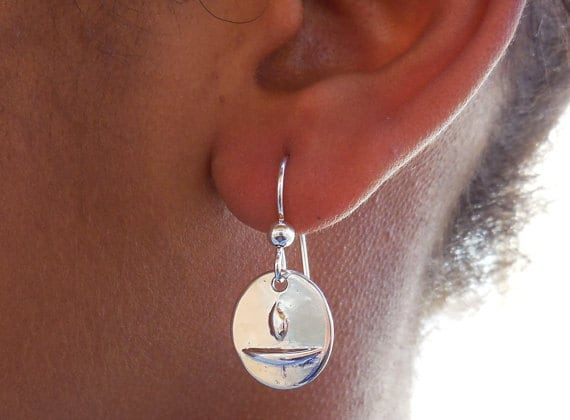 SCUBA jewelry nautical accessory NewMexy Team starfish jewelry surfer jewelry ocean accessory Sterling starfish earrings beach gift