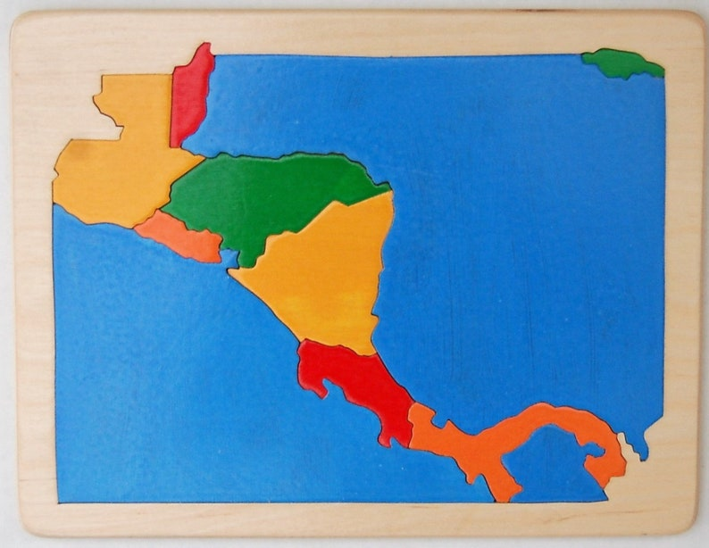 Wooden Map Puzzle of Central America