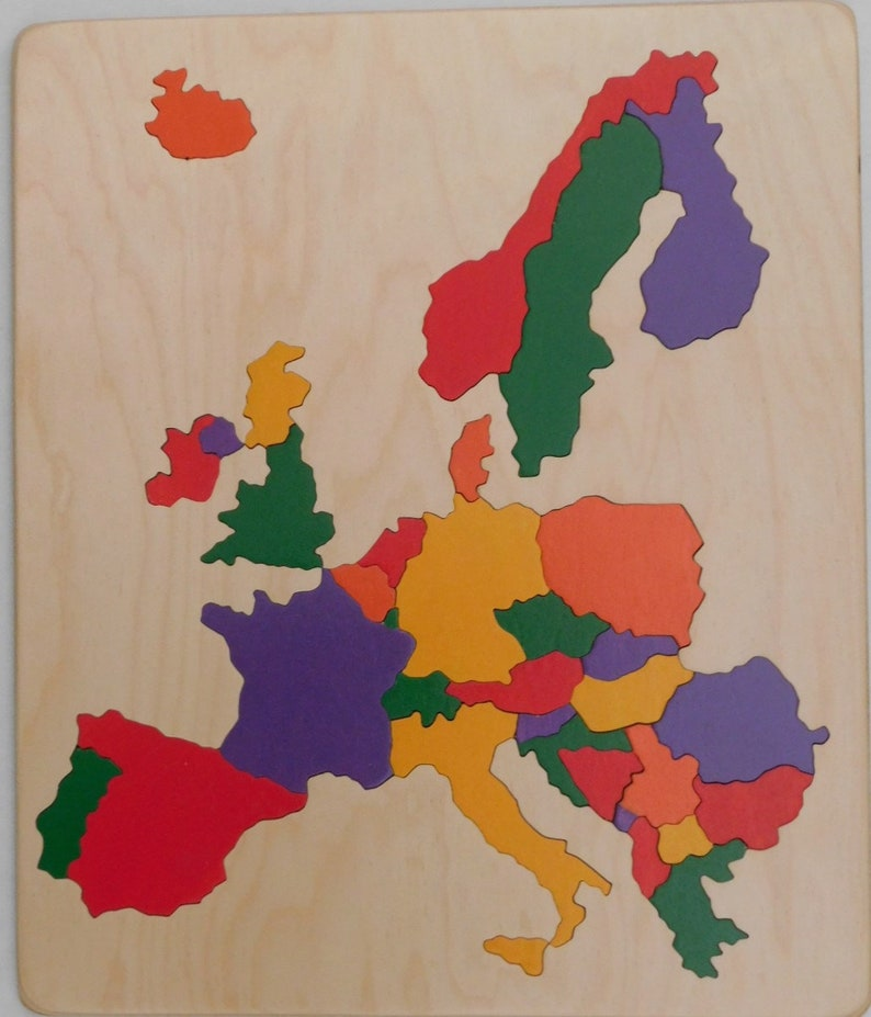 Wooden Map Puzzle of Western Europe  a fun yet educational image 0