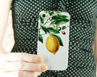 Lemon Botanical iPhone 8  Plus Case, iPhone 7, iPhone 6S Summer Fashion iPhone 5S Case Yellow, Summer Outdoors