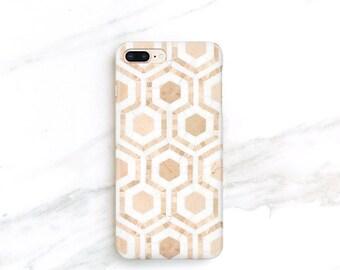 Marble Mosaic iPhone Case iPhone X 8 Plus 7 Plus 6S SE Samsung Galaxy S7 S8 S9 Hexagon Stone Tiles