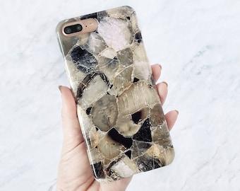Smoke Quartz Phone Case iPhone 8 Plus Case X 7 Galaxy S8 Minimalist Fashion Gift