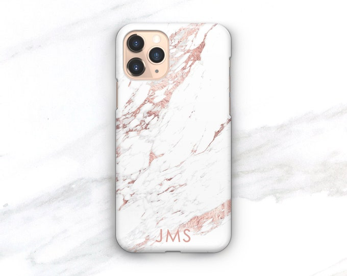Personalized Gift Phone Case iPhone 12 13 Pro Max Rose Marble 11 Pro 8 Plus Xr 12 Mini Custom Ideas for Women Her CG-MARRO