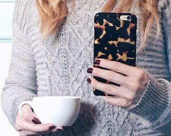 Gifts for Women Tortoise Shell Print iPhone 6S Case Transparent, Tortoiseshell iPhone 7 Tortoiseshell iPhone 6S Plus Case, Mom, Friends