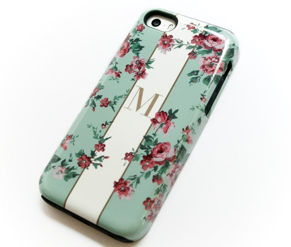 Monogram Case For Iphone Garden Floral In Vintage Green Samsung Galaxy Iphone Xs 8 Plus 7 Se 6s Personalized Gift Galaxy S10 Plus