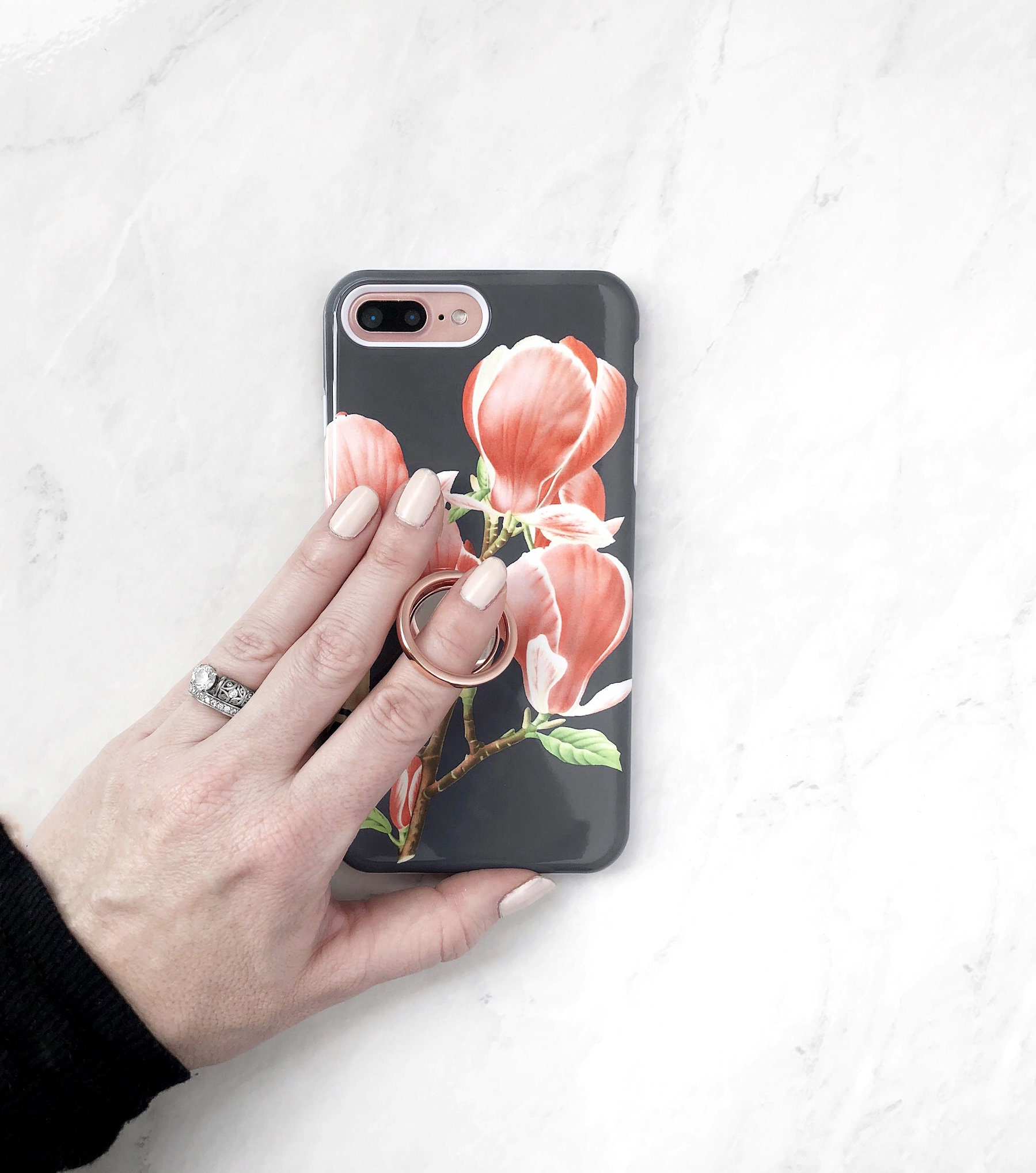 5bad3117962b7b Ring Grip Magnolia Buds iPhone Case or Galaxy Case Floral