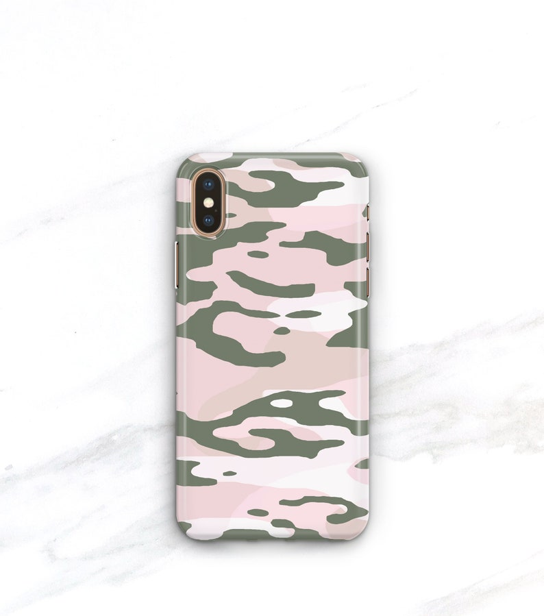lowest price 229df c444e Pink and Army Green Camo Phone Case iPhone Xs Max Case iPhone 8 Plus Case  iPhone X Xr 7 SE 6S Plus Galaxy S8 S9 S10 Womens Camouflage