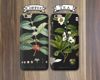 Phone Cases - Coffee and Tea, Opposites Attract - Couples iPhone X 8 7 6S SE  Galaxy S7 S8 Cases Tea and Coffee Gift Valentines Anniversary