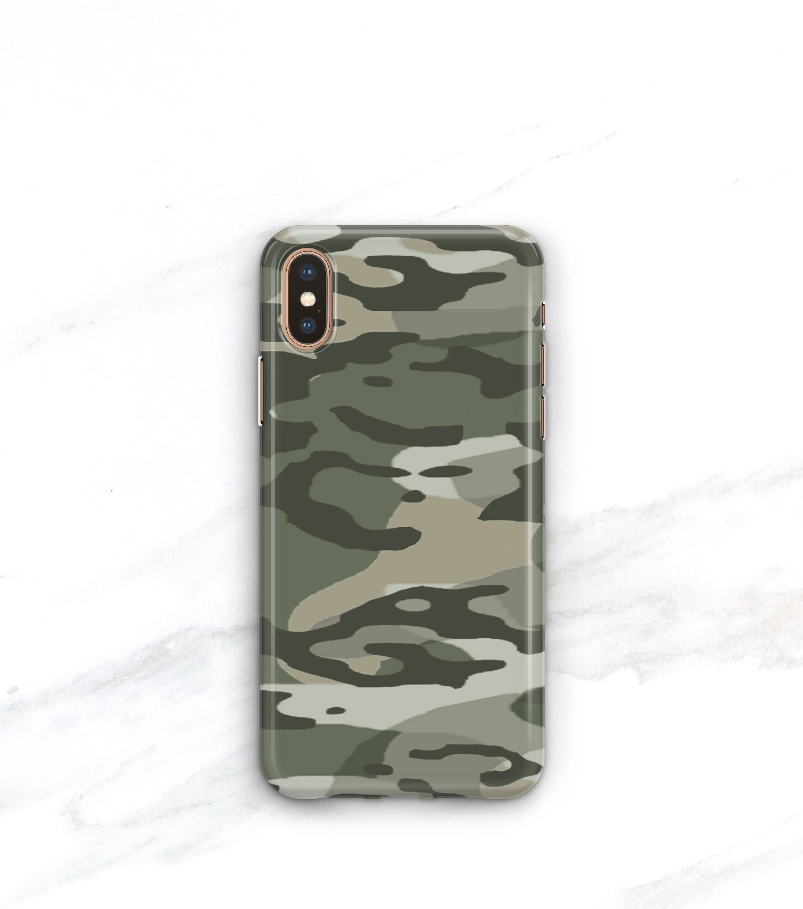 online retailer 73e2d 7be79 Camo Phone Case iPhone Xs Max Case iPhone 8 Plus Case iPhone 8 iPhone X Xr  7 SE 6S Plus Galaxy S8 S9 Army Green Camouflage Galaxy S10 Plus