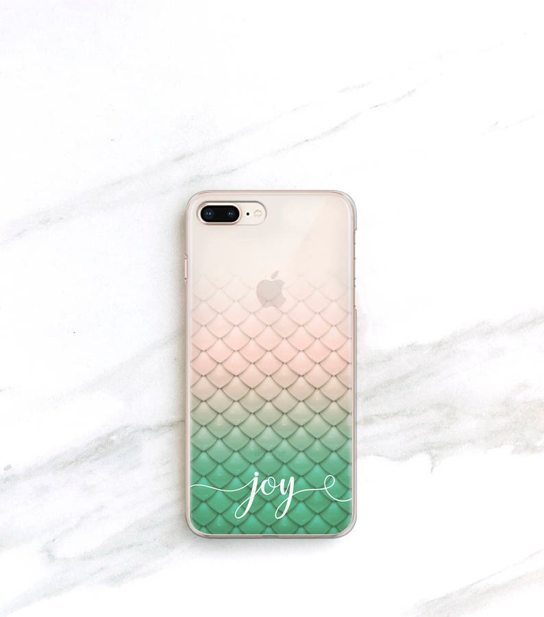 on sale ecc81 66eb4 Personalized Mermaid iPhone Xs Max Case Clear iPhone 8 Plus Case Custom  Phone Case iPhone 7 iPhone Xr 6S Mermaid Gift for Her