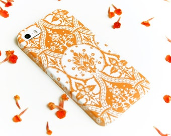 iPhone 8 Case Orange iPhone X Case Damask iPhone 7 Case Cell Phone Cover iPhone 6S Plus Case