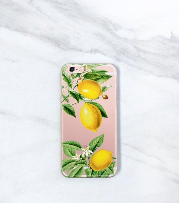 iPhone Xs Clear iPhone 7 Plus Case Lemons iPhone 8 Plus 6S  b6933abea9