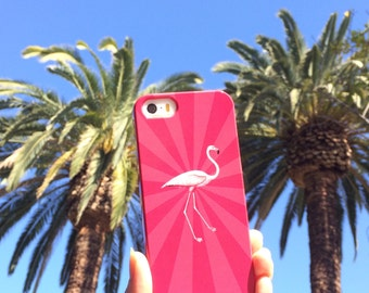 Summer iPhone 6S Case, Pink Flamingo iPhone 5S Case, Pink iPhone 6S Plus Case, Kitsch  Case - Samsung Galaxy