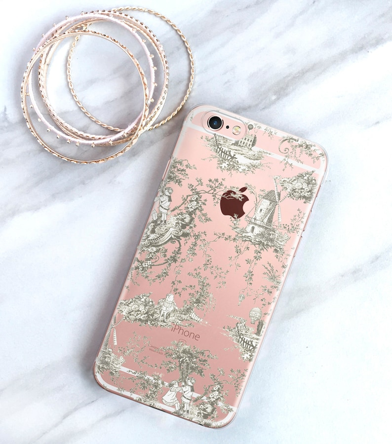 French Country Toile iPhone 11 Pro Max Case Clear iPhone XS image 0