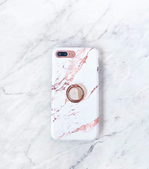 Rose Gold Ring Phone Holder Rose Marble Case Iphone And