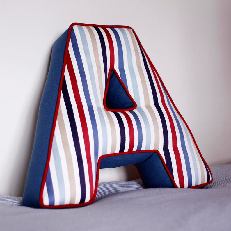 Two Tone Letter Cushion