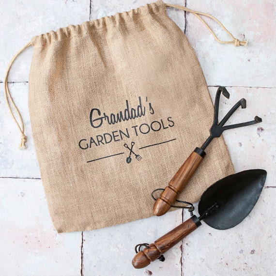 Gardening Gifts For Him >> Personalised Hand Forged Iron Garden Tool Set Gifts For Him Father S Day Gardening Gifts Artisan Tools