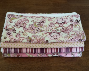 Eva Versailles Burp Cloth Set of 4, Get one more FREE